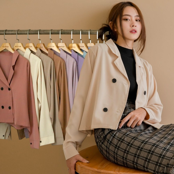 MIUSTAR 多色可選!翻領四釦雪紡西裝外套(共11色)【NJ2525】預購