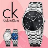 CK手錶專賣店 K4N23141 黑 女錶  石英  黑面 藍寶石水晶玻璃鏡面 不鏽鋼錶殼 按動式蝴蝶扣
