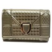Dior 迪奧 Christian Diorama金色金屬漆皮短夾 26 MA 0138 【BRAND OFF】