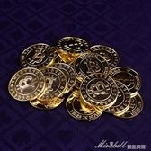 道具籌碼比特幣模型bitcoin電鍍金色幣德州撲克賭場籌碼 蜜拉貝爾