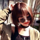 短假髮 假髮女短髮bobo波波頭假髮套韓國空氣劉海中長直髮自然逼真短捲髮 免運直出