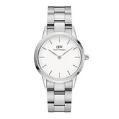 【Daniel Wellington】Iconic Link瑞典時尚品牌鋼帶腕錶-耀目亮銀-32mm/DW00100205/原廠公司貨兩年保固