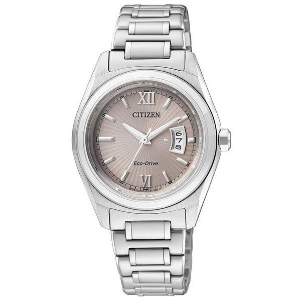 【台南 時代鐘錶 CITIZEN】星辰 光動能 浪漫羅馬時標時尚腕錶 FE1050-52W 灰/銀 30mm