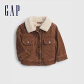 Gap嬰兒 燈芯絨加絨夾克外套 708388-咖啡色