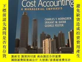 二手書博民逛書店Cost罕見Accounting A Managerial Emphasis(16開)Y14581 看圖 看圖