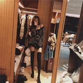 LGGDJDZ chic風復古豹紋慵懶寬鬆針織毛衣開衫女 圓領針織毛衣女