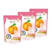 【橘子工坊】家用清潔類奶瓶蔬果清潔劑補充包430mlx3