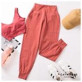 Catworld 純色側口袋彈力縮口運動褲【12001986】‧S/M/L