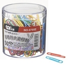 SDI 0795E 特大彩色迴紋針 50mm (150入)塑膠盒