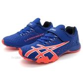 《7+1童鞋》ASICS 亞瑟士 魔鬼氈 輕量 慢跑鞋 運動鞋 5269 藍色