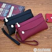2020新款女錢包韓版手拿包潮爆簡約手機包氣質格紋零錢包小包『向日葵生活館』
