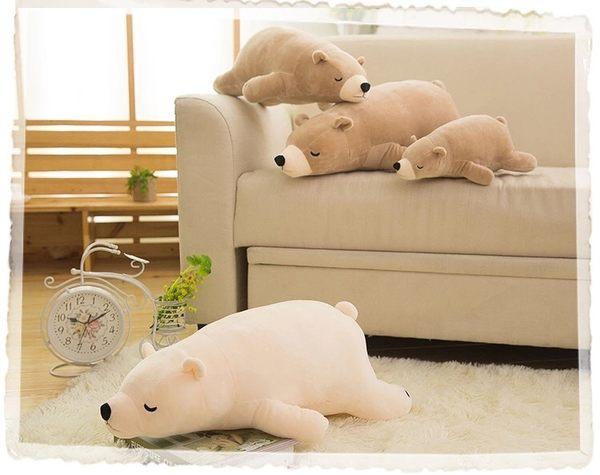 經典未穿衣款新版可愛北極熊玩偶娃娃抱枕靠墊午睡枕禮物90CM(現+預)