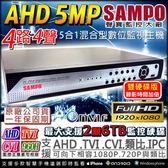 【台灣安防】監視器 AHD 1440P 聲寶 4路主機 4路4聲DVR 5MP混搭型 相容TVI/AHD/CVI 監控錄影機 DVR