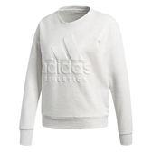 Adidas Sport ID 女 白 灰 運動上衣 經典字母 大Logo 長T 大學T t恤 Sweat 愛迪達 衛衣 CD7773