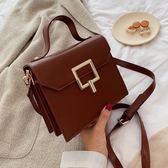 秋冬上新復古小包包女新款潮韓版時尚百搭側背斜背手提包  宜室家居