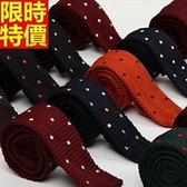 領帶 男士配件(任兩條)-平頭型休閒時尚點點手打領帶9色69d11【巴黎精品】
