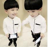 男童加絨加厚白色襯衫純棉長袖修身襯衣 童裝秋冬款兒童襯衫2-8歲 熊貓本