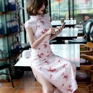 旗袍洋裝夏款新式旗袍年輕款少女中國風改良版洋裝修身顯瘦走秀演出YYP 蜜拉貝爾
