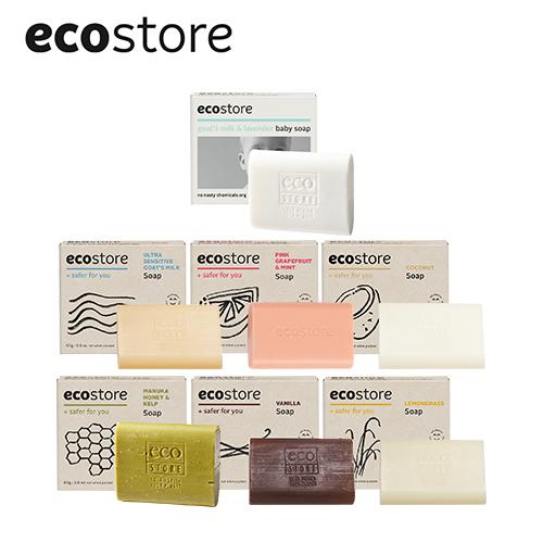 ecostore 純淨香皂 80g 薰衣草/甜椰子/純羊乳/葡萄柚/檸檬草/蜂蜜/香草【BG Shop】多款可選