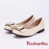 itabella.柔軟舒適 金屬飾釦包鞋(9251-30米色)