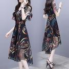 洋裝夏季新款女中長款雪紡裙子