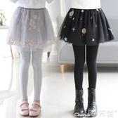 兒童褲裙女童打底褲兒童外穿裙褲春秋款長褲子新款洋氣加絨褲裙假兩件 小天使
