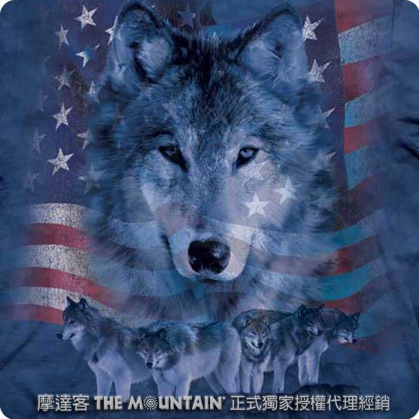 【摩達客】 (預購) 美國進口【The Mountain】自然純棉系列 愛國狼群 T恤(10413045101a)