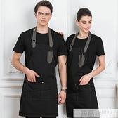 網紅明星同款圍裙高端牛仔帆布訂製logo印字餐廳奶茶店男女工作服 夏季新品