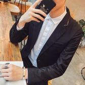 西裝外套男士西裝青年修身西服外套男男裝上衣英倫小西裝 父親節禮物