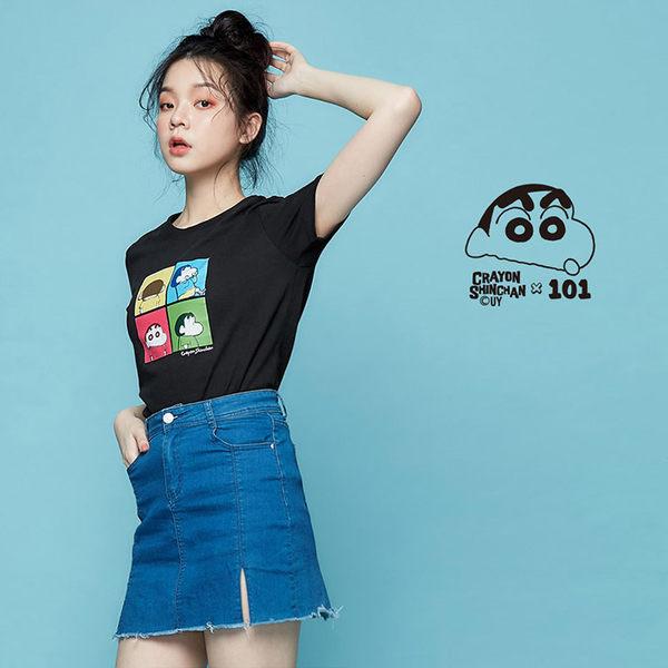 【101原創】蠟筆小新Colorful短袖T恤-男女適穿-9601008