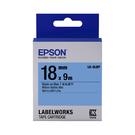 EPSON LK-5LBP C53S655406 粉彩系列藍底黑字標籤帶 寬度18mm