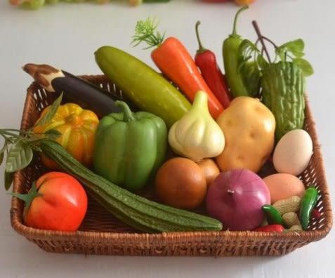 [協貿國際]仿真蔬菜輕型套裝加長方型籃子1入