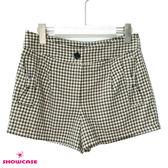 【SHOWCASE】格紋蝴蝶結口袋短褲(卡)