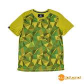 wildland荒野 男 印花棉感抗UV圓領上衣『芥墨綠』0A51626 台灣製造 排汗透氣圓領T恤 T-shirt