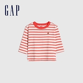 Gap嬰兒 布萊納小熊印花T恤 760618-紅色條紋