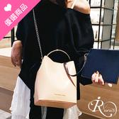 韓系時尚拼色斜挎手提水桶包/5色 (YL0003-BD4508) iRurus 路絲時尚