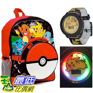 [美國直購] 神奇寶貝 精靈寶可夢周邊 Pokemon 97208PW 3 Piece Kids Backpack Set - Backpack Lunch Bag Watch