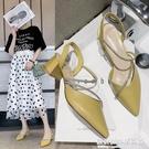 涼鞋女仙女風學生鞋子女夏天2020年新款時尚百搭軟皮不磨腳高跟鞋 設計師生活