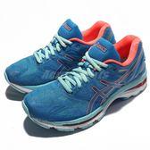 【六折特賣】Asics 慢跑鞋 Gel-Nimbus 19 藍 粉紅 路跑 運動鞋 女鞋【PUMP306】 T750N4306