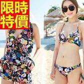 泳衣(三件式)-比基尼-音樂祭沙灘衝浪必備獨特優雅54g246【時尚巴黎】