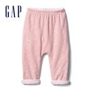 Gap嬰兒 柔軟舒適正反兩穿鬆緊長褲 592526-俏皮粉色