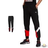 Puma 男 黑 法拉利系列 長褲 運動褲 慢跑褲 棉褲 高爾夫 休閒 慢跑 拼接 長褲 59795002