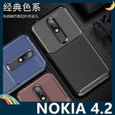 NOKIA 4.2 甲殼蟲保護套 軟殼 碳纖維絲紋 軟硬組合 防摔全包款 矽膠套 手機套 手機殼 諾基亞