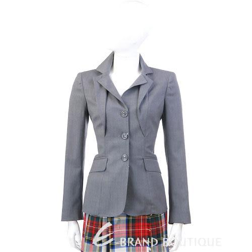 MOSCHINO 灰色荷葉造型西裝外套 1030447-06
