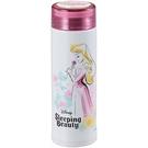 Pearl 細身輕量保溫保冷不鏽鋼隨手瓶 300ml 迪士尼 睡美人 花朵 粉_PA42254