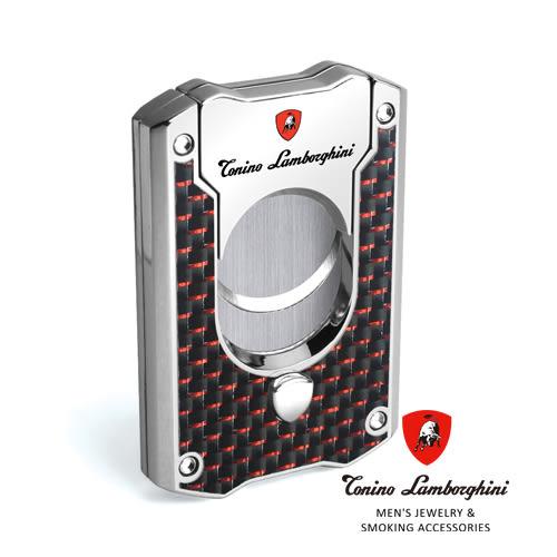 義大利 藍寶堅尼精品 - LES MANS CIGAR CUTTER 雪茄剪(紅黑碳纖維) ★ Tonino Lamborghini 原廠進口 ★