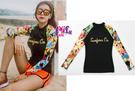 來福泳衣,G201泳衣長袖泳衣橙果二件式泳衣游泳衣泳裝比基尼加大泳衣正品,售價950元