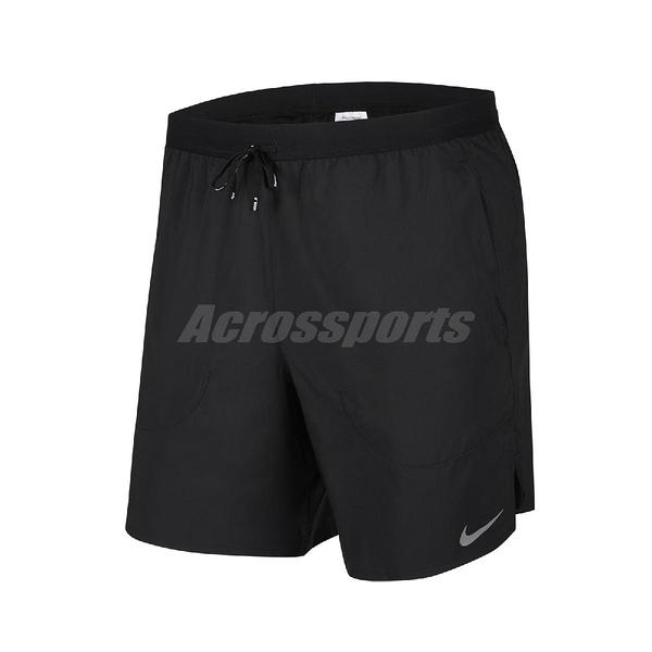 Nike 短褲 Flex Stride 7 Brief Shorts 黑 銀 男款 跑步 運動 【PUMP306】 CJ5460-010