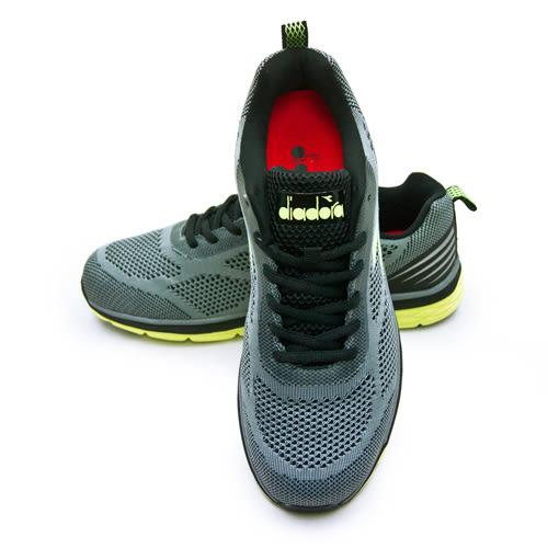 LIKA夢 DIADORA 迪亞多那 輕量飛織慢跑鞋 樂活輕跑系列 灰黑 7228 男