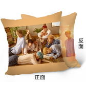 防彈少年團Love Yourself 雙面圖案抱枕 靠墊 枕頭(40x40公分) E705-D【玩之內】BTS